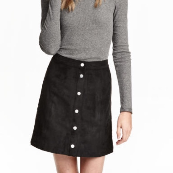 90c2c63c7 H&M Skirts | Nwt Black Hm Divided High Waist Skirt | Poshmark